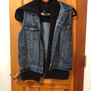 Topshop denim vest layered built in